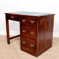 Edwardian Oak Pedestal Writing Desk (11 of 12)