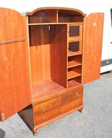 1960s Mahogany Press Wardrobe Well Fitted (3 of 7)