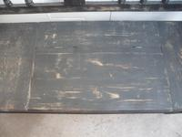 Shabby Chic Black 4 Seater Antique Pine Kitchen / Hall Box Settle / Bench (3 of 10)