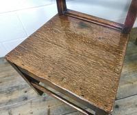 Pair of Antique Oak Bar Back Farmhouse Chairs (6 of 14)