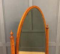 Edwardian Oval Inlaid Satinwood Mirror (10 of 13)
