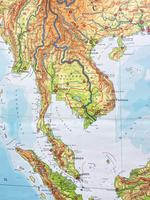 Large Vintage Westermann Wall Map of East & South-East Asia 1960's 'M-1747' (7 of 11)
