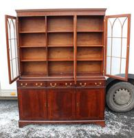 1960s 3 Door Mahogany Bookcase with Glazed Top (3 of 5)
