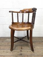 Antique Captain Style Elm Armchair (6 of 12)