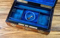 Burr Walnut & Brass Jewellery Box 1860 (12 of 14)