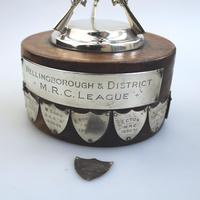 Sporting Antiques : Large Novelty Silver Plate Shooting Trophy The Jones 1940-50 (5 of 8)
