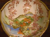 Pair of Satsuma Lobed Bowls by Koshida, (4 of 5)