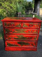Antique Lacquered Chinoiserie Chest of Drawers (11 of 11)