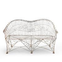 Elaborate Mid 19th Century Wirework Sofa (2 of 4)
