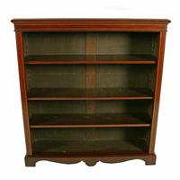 Inlaid Mahogany Open Bookshelves (3 of 7)