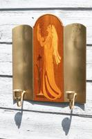 Pair of Swedish Art Deco Double Candle Sconces by Mjolby Intarsia c.1930 (10 of 21)