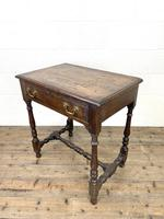 18th Century Antique Oak Side Table with Drawer (7 of 10)