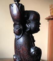 Oriental Hardwood Table Lamp c.1910 (7 of 11)