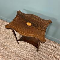 Elegant Inlaid Rosewood Antique Occasional Table (5 of 5)