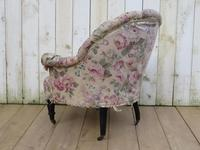Antique Napoleon III Tub Armchair for re-upholstery (7 of 8)