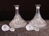 Pair of Cut Glass Ships Decanters (2 of 6)