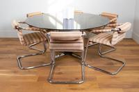 Pieff Glass Chrome Dining Table & 6 Chairs Late 1970s (14 of 14)