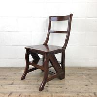 Mahogany Metamorphic Library Chair Steps (2 of 10)