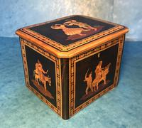 Victorian Italian  Sorento Ware Single Tea Caddy (9 of 16)