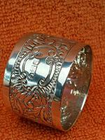 Antique Sterling Silver Hallmarked Napkin Ring 1903 (2 of 6)