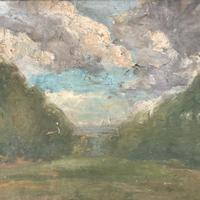 Antique Impressionist study in oil on canvas by Albert de Belleroche (6 of 11)