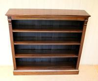 Late 19th Century Open Mahogany Bookcase (6 of 10)
