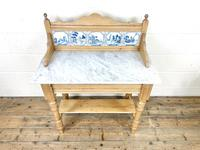 Antique Pine & Marble Washstand (2 of 10)