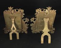 Pair of Art Nouveau Brass Figure Decorated Easel Photo Frames (3 of 4)