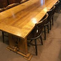 Large Oak Extending Refectory Table (5 of 6)