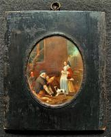 After: Gabriel Metsu (1629-1667) 'The Game Seller' 19thc Miniature Oil Painting (2 of 12)