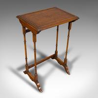Antique Trio of Nest Tables, English, Walnut, Mahogany, Nesting, Side, Edwardian (7 of 12)