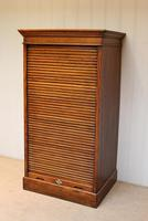 Solid Oak Lebus Tambour Front Filing Cabinet (3 of 10)