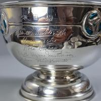 Rare Arts & Crafts Liberty & Co HM Silver & Enamel Cymric Bowl c.1905- Signed (8 of 14)