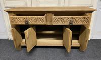 French Gothic Bleached Oak Sideboard (4 of 17)