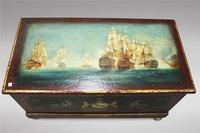 Hand Painted Victorian Pine Box (3 of 4)