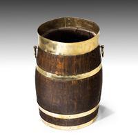 Mid 19th Century Coopered Oak Barrel (2 of 3)