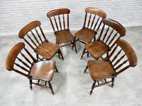 Set of 6 Antique Spindleback Kitchen / Dining Chairs (4 of 8)