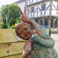 Antique Cast Iron Fountain in the Form of a Boy with Goose (11 of 12)