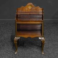 Early 20th Century Small Mahogany Bookstand (3 of 7)
