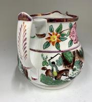 Antique Staffordshire Pottery Jug Country Sporting Pursuits c.1850 (5 of 9)