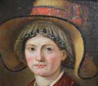 """Swiss School Portrait c1800 Inscribed """"Johann Biedermann 1763-1830"""" (6 of 9)"""
