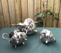 19th Century Silver Plated 3 Piece Tea Set (2 of 5)