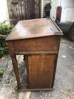 Antique Oak Clerk's Desk with Cupboard (11 of 11)