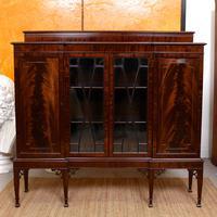 Edwardian Bookcase Inlaid Mahogany Glazed (2 of 7)