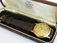 Gents 9ct Gold Rotary Maximus Wristwatch, 1952 (6 of 6)