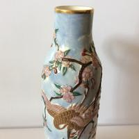Royal Worcester Aesthetic Design Vase with Stork Locus & Cherry Blossom Detail (6 of 12)