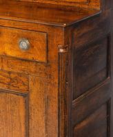 Handsome George III Period Oak Dresser & Rack (6 of 9)