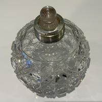 Silver topped scent cologne bottle (2 of 6)