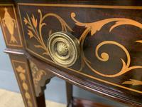 Edwardian Slender Inlaid Mahogany Display Cabinet (9 of 21)
