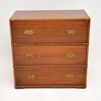 Antique Military Campaign Style Mahogany Chest of Drawers (7 of 10)